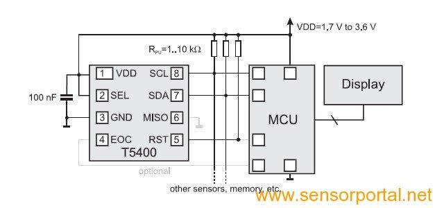 t5400气压传感器示例电路图片